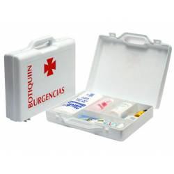 Botiquín con material para primeros auxilios en Forma maletín