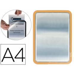 Marco Tarifold Din A4 adhesivo color naranja pack de 2