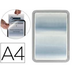 Marco Tarifold Din A4 adhesivo color gris pack de 2