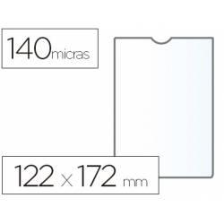 Funda portadocumento marca Esselte plastico cristal 122 x 172 mm