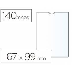 Funda portadocumento marca Esselte plastico cristal 67 x 99 mm