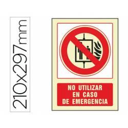 Señal marca Syssa no utilizar en caso de emergencia