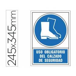 Señal marca Syssa obligatorio uso calzado seguridad