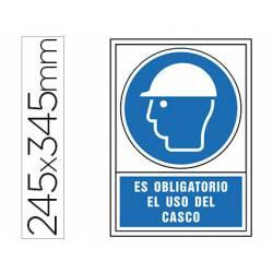 Señal marca Syssa obligatorio uso casco