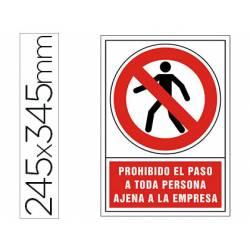 Señal marca Syssa prohibido el paso personal ajeno