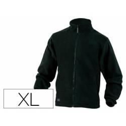 Chaqueta polar DeltaPlus color negro talla XL