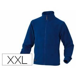Chaqueta polar DeltaPlus color azul talla XXL