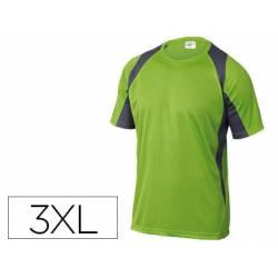 Camiseta manga corta DeltaPlus color verde talla 3XL