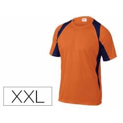 Camiseta manga corta Deltaplus de color Naranja Talla XXL