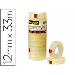 Cinta adhesiva marca Scotch transparente pack de 12