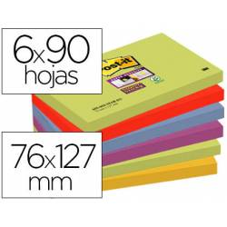 Pack 6 blocs de Post-it ® 76 x 127 mm