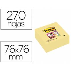 Cubo de post-it ® 76 x 76 mm color amarillo