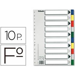 Separadores plastico Esselte Folio juego de 10 colores