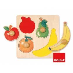 Puzzle a partir de 1 año 4 piezas de fruta Goula