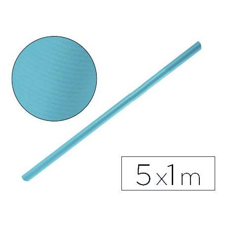 Bobina papel tipo kraft Liderpapel 5 x 1 m azul turquesa
