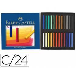 Tiza Faber Castell 24 unidades colores surtidos