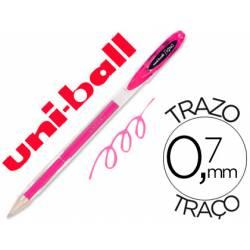 Boligrafo marca Uni-Ball roller UM-120 signo rosa