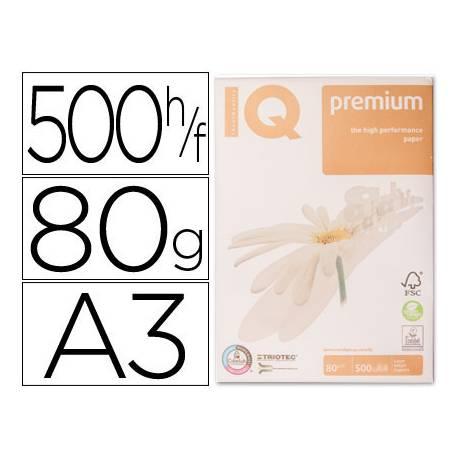 Papel multifuncion A3 IQ Premium 80g/m2 Blanco