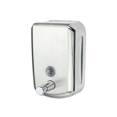 Dispensador de jabon manual marca Q-Connect inoxidable
