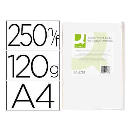 Papel fotocopiadora Q-Connect Ultra White DIN A4 120 Gr