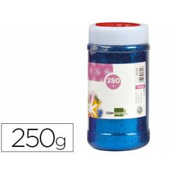 Purpurina Liderpapel fantasia color azul metalizado