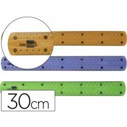 Regla plastico flexible marca Liderpapel 30 cm colores surtidos