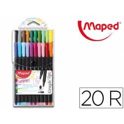 Rotulador Maped Graph´Peps Punta de Metal Fina Estuche de 20 colores