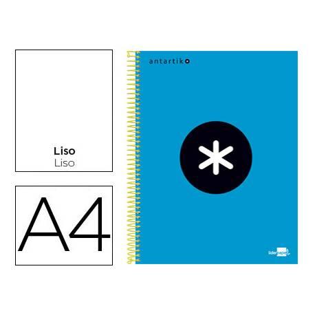 Bloc Antartik A4 Liso tapa Forrada 120 hojas 100g/m2 Azul 5 bandas color