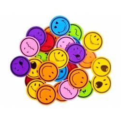 Figuras caritas sonrientes autoadhesivas de foamy itKrea