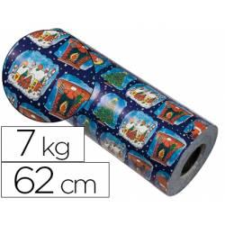 Bobina papel tipo verjurado Impresma 62 cm 7 kg navidad 7002