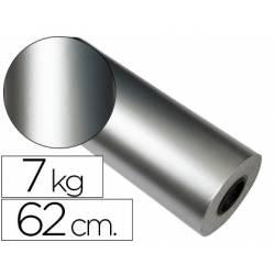Bobina papel tipo verjurado Impresma 62 cm 7 kg plata