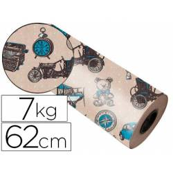Bobina papel kraft Impresma 62 cm 7 kg havana 4337