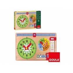 Juego didáctico a partir de 3 años Reloj calendario Goula