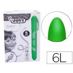 Barra maquillaje verde marca Jovi Twist Make-UP. Caja de 5 unidades