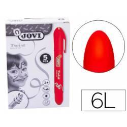 Barra maquillaje rojo marca Jovi Twist Make-UP. Caja de 5 unidades