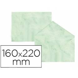 Sobre marmoleado Michel fantasia color verde 160 x 220 mm