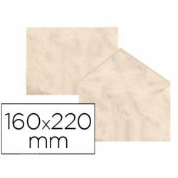 Sobre marmoleado Michel fantasia color beige 160 x 220 mm