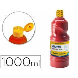 Tempera liquida Giotto color rojo escarlata 1000 cc