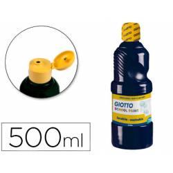 Tempera Giotto color negro 500 cc