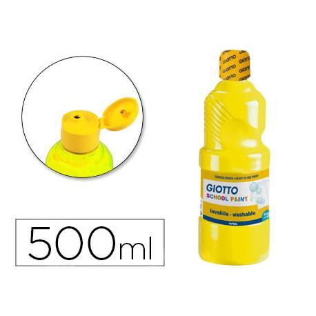 Tempera Giotto color amarillo 500 cc