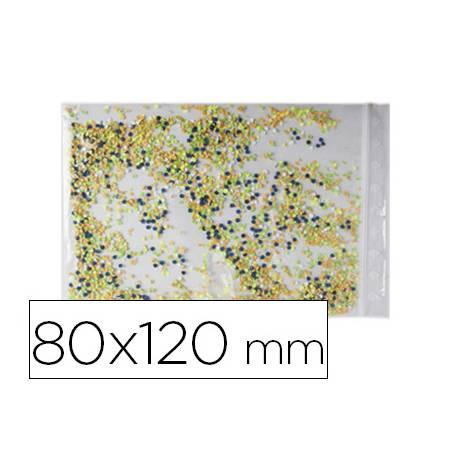 Bolsa plastico autocierre 80x120 mm paquete de 100
