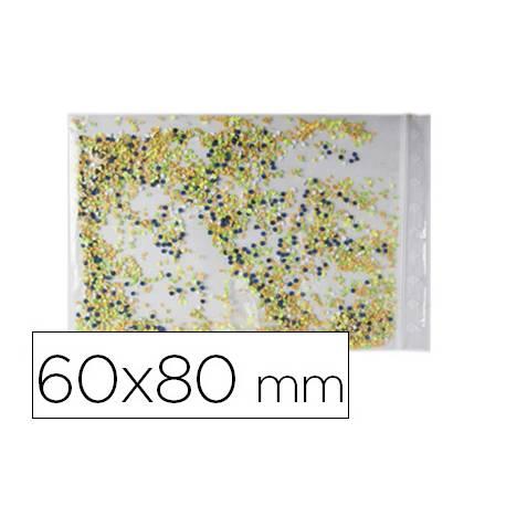 Bolsa plastico autocierre 60x80 mm paquete de 100