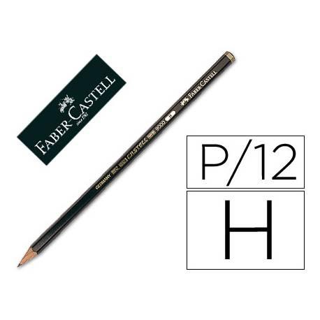 Lapices de grafito marca Faber Castell 9000 H