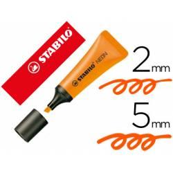 Rotulador Stabilo fluorescente naranja neon