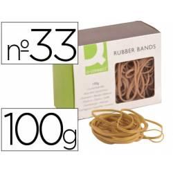 Gomillas elasticas q-connect 100 gr num. 33
