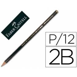 Lapices de grafito marca Faber Castell 9000 2B