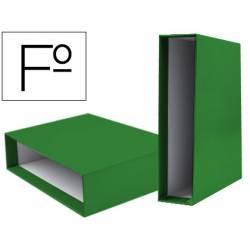 Caja archivador marca Liderpapel de palanca Folio documenta Verde