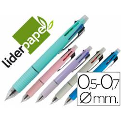 Boligrafo marca Liderpapel 5 en 1 multicolor 0,7 mm