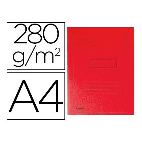 Subcarpeta cartulina Exacompta A4 roja 280g/m2 reciclada 2 solapas interiores