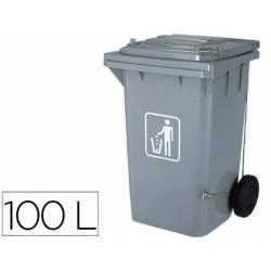 Papelera contenedor Q-Connect plastico de 100 L gris
